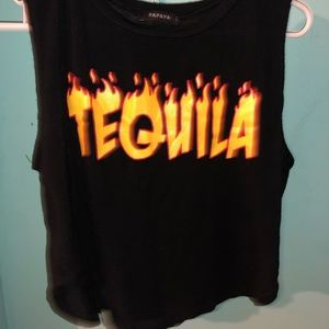 Tequila Graphic crop top